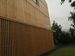 muros de cortina madera